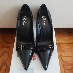 Wild pair black high heel shoes